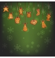 Hanging christmas gingerbread for Xmas decoration vector image vector image