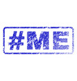 hashtag me rubber stamp vector image vector image