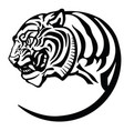 head tiger tattoo vector image vector image