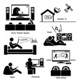 home house entertainment electronic appliances vector image vector image
