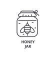 honey jar line icon outline sign linear symbol vector image vector image