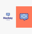 ice hockey rink-logo-icon vector image