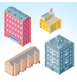 isolated isometric buildings 2 vector image vector image