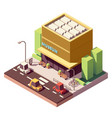 isometric museum building vector image