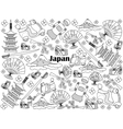 Japan colorless set vector image vector image