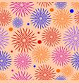 joyful textile patterns on coral background vector image vector image