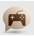 Joystick simple sign Brown gradient icon on vector image vector image