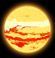 jupiter planet vector image vector image