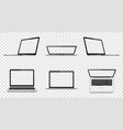 laptop with transparent screen isolated on vector image vector image
