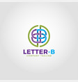 letter b logo is an alphabetic logo with line art vector image