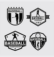 logo badges baseball 2 vector image