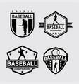 logo badges baseball 2 vector image vector image