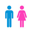 man and woman icon flat stock vector image