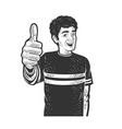 man thumbs up sketch vector image vector image