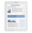 mobile news tablet vector image vector image