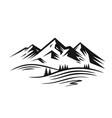 mountain and landscape vector image vector image