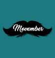 moustaches movember blog post template for vector image vector image