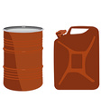 Orange barrel and canister vector image vector image