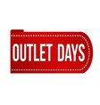 outlet days banner design vector image vector image