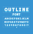 outline font alphabet vector image vector image
