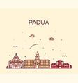 padua skyline italy linear style city vector image vector image