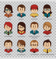 people icons people avatars for social networks vector image vector image