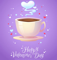 Romantic smoking morning coffee cup vector image vector image