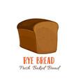 rye bread icon vector image vector image