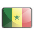 senegal flag on white background vector image vector image
