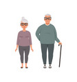 senior couple man and woman of advanced age vector image vector image