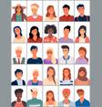 set avatars in flat design positive avatars vector image vector image