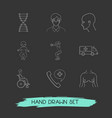 set of anatomy icons line style symbols with human vector image