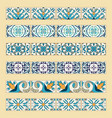 set of decorative tile borders vector image vector image