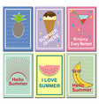 set summer cards vector image vector image