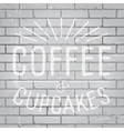 slogan brickwall light coffee vector image vector image
