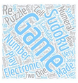 sudoku electronic game text background wordcloud vector image vector image