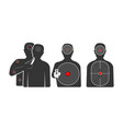 targets in shape of human silhouettes for vector image