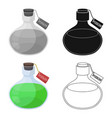 the poison is in a vessel with a label poisoned vector image