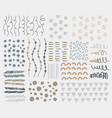 variety decorative elements set vector image vector image