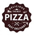 Vintage pizza logo stamp vector image