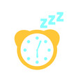watch alarm with zzzz vector image