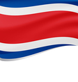 Waving flag of Costa Rica isolated on white vector image vector image