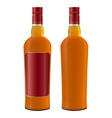 whiskey bottle vector image vector image