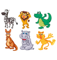 Wild and scary animals vector image vector image