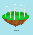 alternative energy power wind electricity turbine vector image