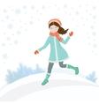 Girl in winter2 vector image