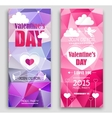 Colored banners for Valentines Day vector image