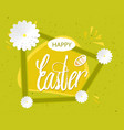 quote happy easter day background design the vector image