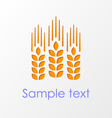 Wheat ears emblem eps10 vector image