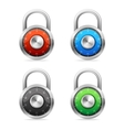 Security Concept padlock set vector image